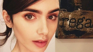 How to Master Lily Collins' '60s-Inspired Updo