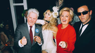 Orlando Bloom, Kate Hudson and Katy Perry, Bill Clinton, Wild West Girl and Hillary Clinton