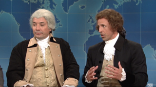 Watch Jimmy Fallon, Seth Meyers Play Founding Fathers on 'SNL'