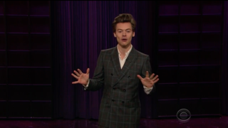 Watch Harry Styles Talk Roy Moore, Donald Trump as 'Late Late Show' Host
