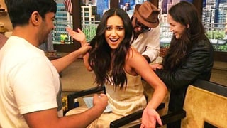 Shay Mitchell Suffers Wardrobe Malfunction While Filling in for Kelly Ripa on 'Live With Kelly and Michael'