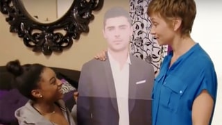 Simone Biles Has a Life-Size Zac Efron Cutout She Used to 'Kiss on the Cheek'
