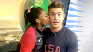 Simone Biles Finally Meets Her Celeb Crush Zac Efron, Completing the Best Day Ever
