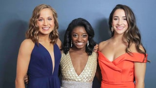 2017 Golden Globes Red Carpet Beauty: Simone Biles, Aly Raisman and Madison Kocian Show Us the Secrets Behind Their Hairstyles