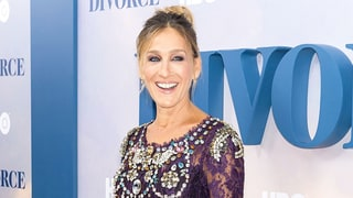 Sarah Jessica Parker Looks Like Royalty in a Purple Jeweled Dress