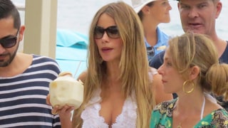 Sofia Vergara Relaxes Poolside With Family and Friends Before Wedding: Photos