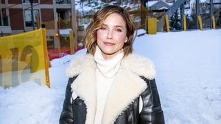 Sophia Bush in $2,495 Coach Shearling