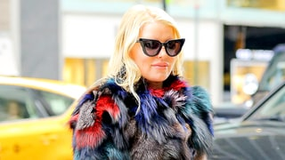 Jessica Simpson Works Extra-Flared Bell-Bottoms, Multicolored Fur Coat — Love It or Hate It?