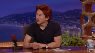Steven Yeun Jokes That He Already Has a New Post-'Walking Dead' Job — as Conan O'Brien's Stand-In