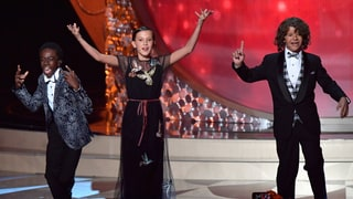Watch 'Stranger Things' Stars Jam to 'Uptown Funk' at Emmys