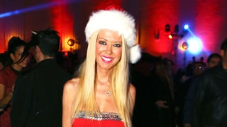 Tara Reid Wears Barely There Christmas-Inspired Costume for Halloween 2016