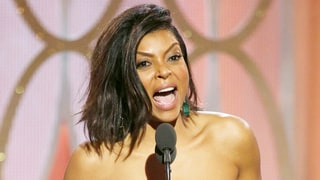 Taraji P. Henson Hands Out Cookies for Golden Globes 2016 Win: Watch!