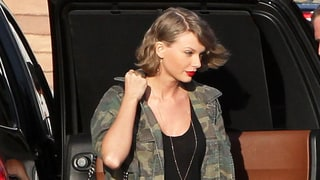 Taylor Swift Pairs Insanely Short Shorts With $1,350 Camo Jacket