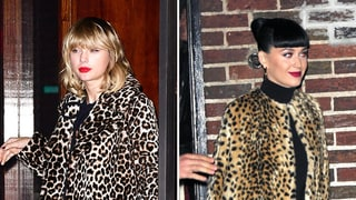 Taylor Swift and Katy Perry Go Wild for Leopard Jackets on the Same Night