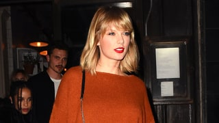 Taylor Swift Wears a Pumpkin Spice–Colored Sweater to Chill With Her Squad