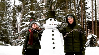 Taylor Swift, Calvin Harris Build a Snowman Over Holiday Break: Cute Photos!