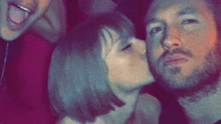 Calvin Harris Congratulates 'Beautiful Girlfriend' Taylor Swift on Grammys 2016 Win: See Their PDA Photo at Party