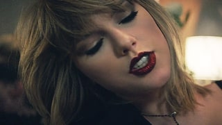 Taylor Swift Rocks Red Glitter Lips in 'I Don't Wanna Live Forever' Music Video