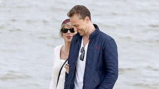 Taylor Swift and Tom Hiddleston Get Cozy on Another Beach Stroll During England Getaway