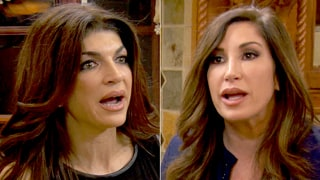 Teresa Giudice Fires Back at Jacqueline Laurita's 'F--king Low Blow' in 'The Real Housewives of New Jersey' Sneak Peek