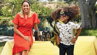 Tia Mowry and Son Cree Teach Us How To Make Scary Easy Haunted Houses