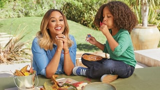 Tia Mowry and Her Son Cree Teach Us How To Make Fall Leaf Greeting Cards
