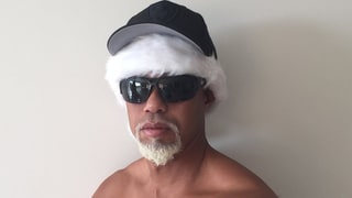 Tiger Woods Poses Shirtless as 'Mac Daddy Santa' — Complete With a White Goatee — and Twitter Can't Handle It