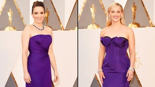 Tina Fey, Reese Witherspoon Wear Nearly Identical Dresses on Oscars 2016 Red Carpet
