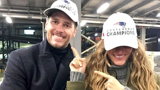 Tom Brady, Gisele Bundchen Celebrate Patriots Win in Matching Hats: Cute Photo