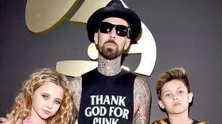 Travis Barker and His Kids Rock the Grammys 2016 Red Carpet