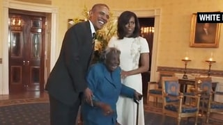 106-Year-Old Woman Virginia McLaurin Dances With Happiness While Meeting the Obamas: See the Cute Video