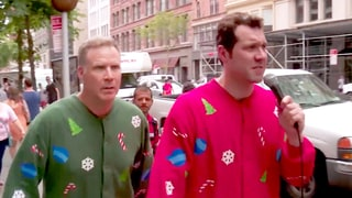 Will Ferrell Wears Christmas Pajamas to Ambush People on the Street With Billy Eichner: Watch