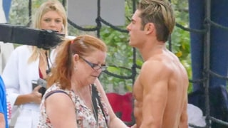 Zac Efron's Makeup Artist Has the Best Job Ever — See Her Apply Bronzer to His Washboard Abs