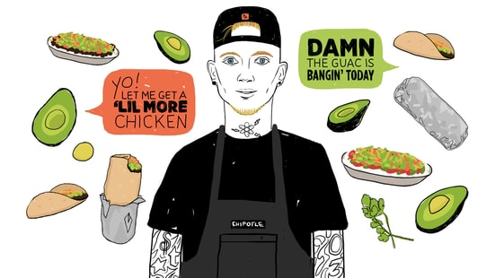 Machine Gun Kelly Talks Working at Chipotle
