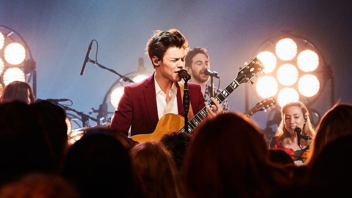 Watch Harry Styles Perform Heavy 'Carolina' on 'Late Late Show'