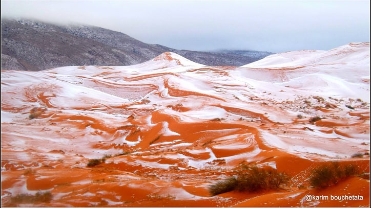 This is What Snow in the Sahara Desert Looks Like