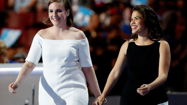 Watch Lena Dunham, America Ferrera at DNC: 'Love Trumps Hate'