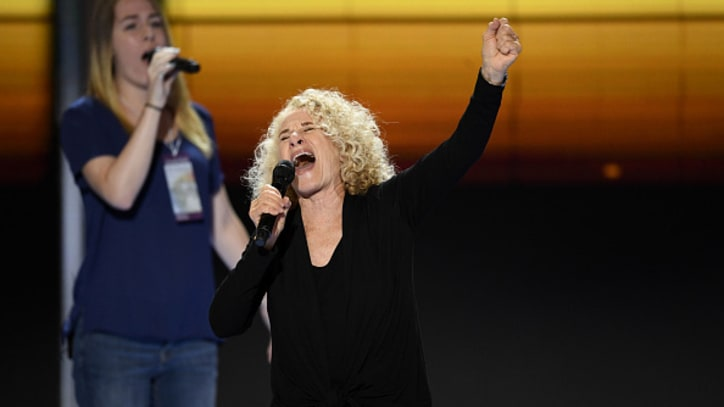 Watch Carole King's Warm Democratic National Convention Performance
