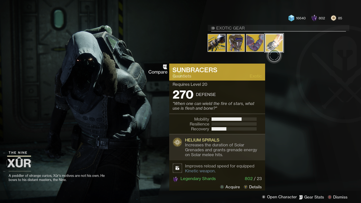 'Destiny 2': Where's Xur and What's He Selling (September 22nd)?