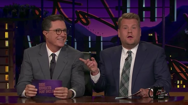 See Stephen Colbert's Surprise Visit to James Corden's 'Late Late Show'