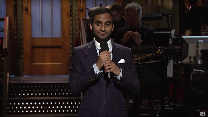 See Aziz Ansari Hammer Trump, 'Lower-Case KKK' in 'SNL' Monologue