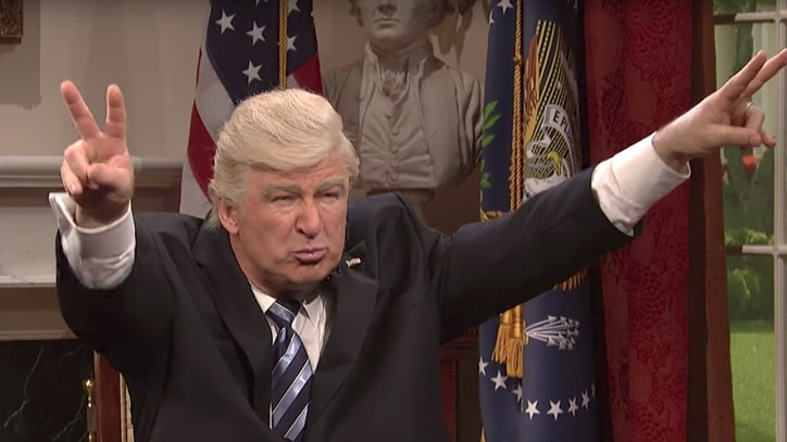 See Alec Baldwin's Donald Trump Dismiss Nixon Comparisons on 'SNL'