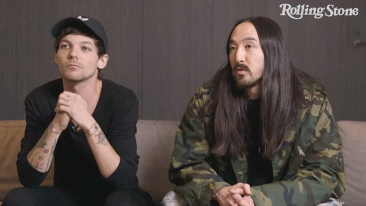 Watch Steve Aoki Talk Surprising Grammy Nom With Louis Tomlinson