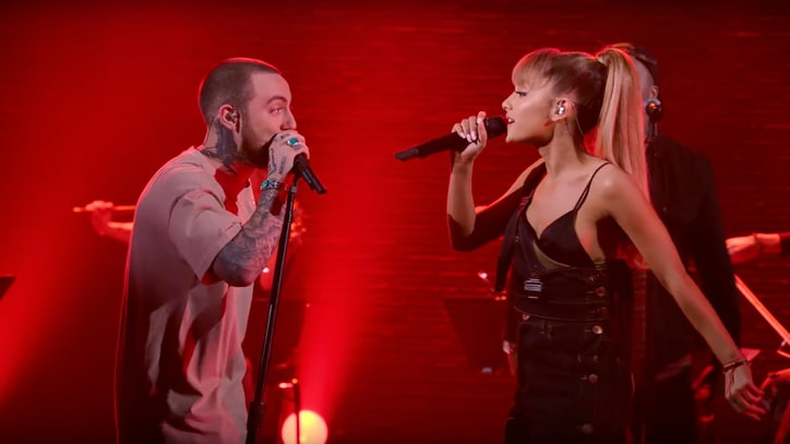 Watch Mac Miller, Ariana Grande Flirt Onstage Singing 'My Favorite Part'