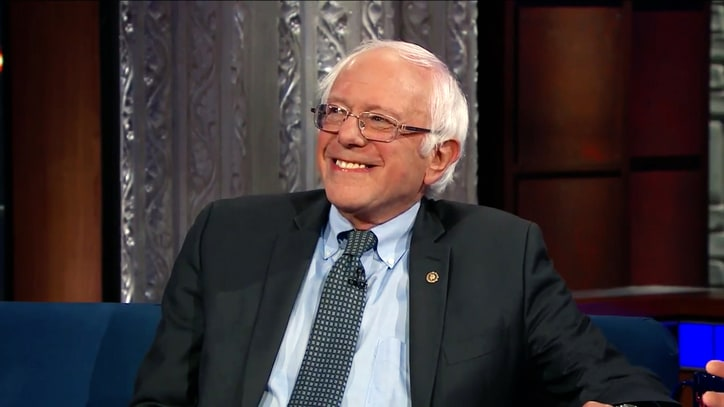 Watch Bernie Sanders Tell Hillary Clinton to 'Move Forward' on 'Colbert'