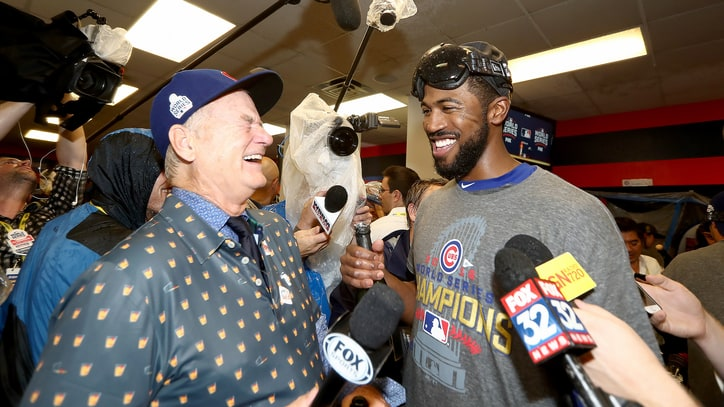 Watch Bill Murray Interview Chicago Cubs Players After World Series Win