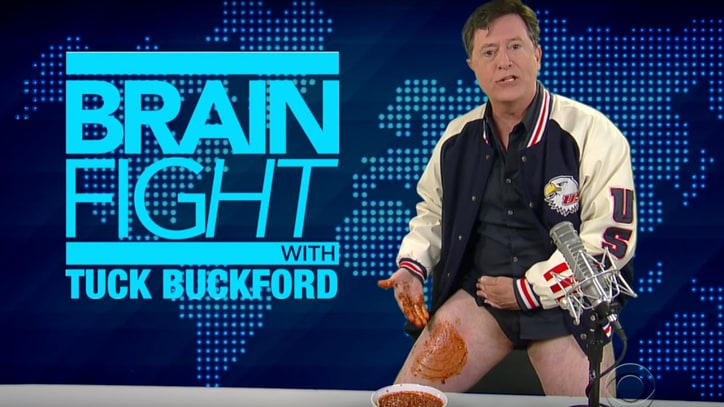 Watch Stephen Colbert's Chili-Soaked Alex Jones Spoof
