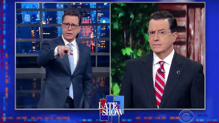 Watch 'Colbert Report' Return to Slam Trump's Budget