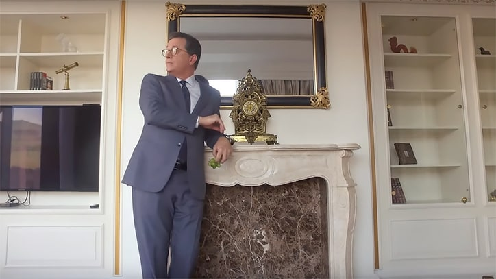 Watch Stephen Colbert Visit Trump's 'Golden Shower' Hotel Room in Moscow