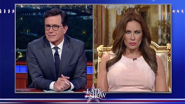 See 'Melania Trump' Defend Donald Trump's Leaked Tape on 'Colbert'